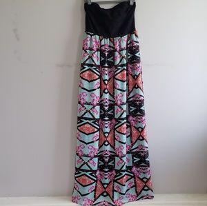 Xhilaration Strapless Maxi Dress XS